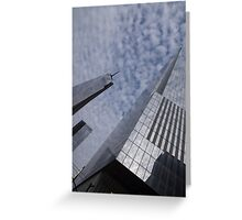 Fascinated with Manhattan - Sky, Glass and Skyscrapers Greeting Card