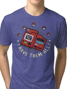 I have them all! Tri-blend T-Shirt