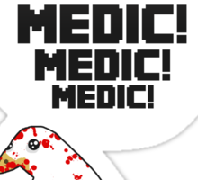 TF2 pigeon - MEDIC! Sticker