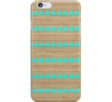 Cyan Wood iPhone Case/Skin