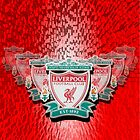 Liverpool FC badge on a red background by Paul Madden