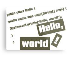 Hello, World! Metal Print