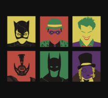 Batman and bad friends by EdWoody