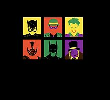 Batman and bad friends iPhone by EdWoody