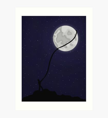 Lasso the Moon (Prints, Phone Cases, Notebooks) Art Print