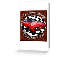 Pontiac GTO Anytime Baby Greeting Card