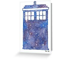 The whole universe in the Tardis Greeting Card