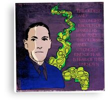 HP LOVECRAFT, AMERICAN GOTHIC WRITER Canvas Print