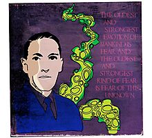 HP LOVECRAFT, AMERICAN GOTHIC WRITER Photographic Print