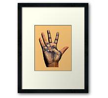 Draw hand Framed Print