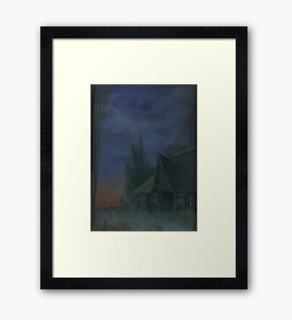 House at dusk Framed Print
