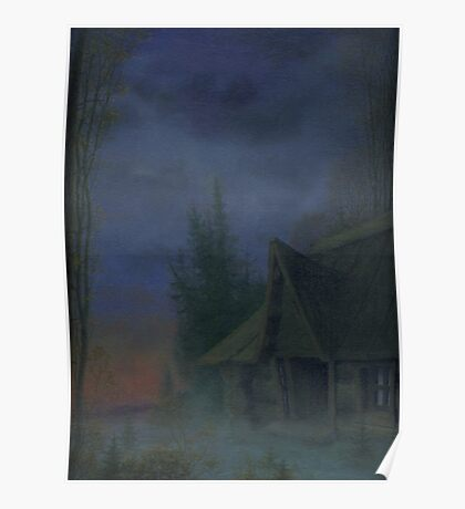 House at dusk Poster