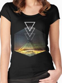 Cool Pyramid tee! Women's Fitted Scoop T-Shirt