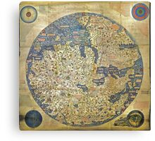 fra mauro medieval map Canvas Print