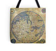 fra mauro medieval map Tote Bag