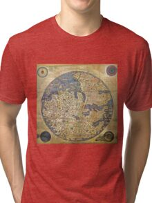 fra mauro medieval map Tri-blend T-Shirt