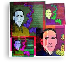 HP LOVECRAFT, AMERICAN GOTHIC WRITER, COLLAGE Metal Print