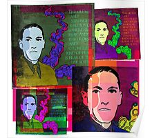 HP LOVECRAFT, AMERICAN GOTHIC WRITER, COLLAGE Poster