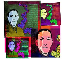 HP LOVECRAFT, AMERICAN GOTHIC WRITER, COLLAGE Photographic Print