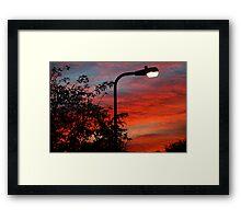 sunset streetlight Framed Print