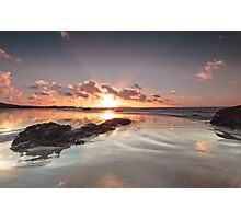 Shiny Sunset Photographic Print