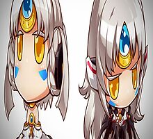 Elsword - Eve Code Empress & Nemesis Chibi [Greeting & Post Cards/Prints/Posters] by Tony Nguyen