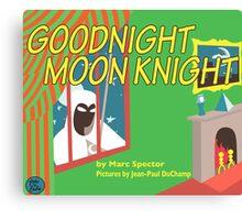 Goodnight Moon Knight Canvas Print