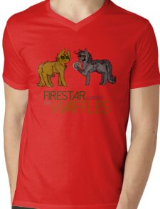 Firestar and Greystripe Mens V-Neck T-Shirt