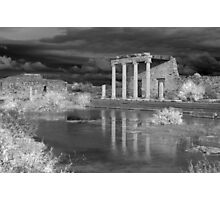 Storm clouds over ancient greek ruins Photographic Print