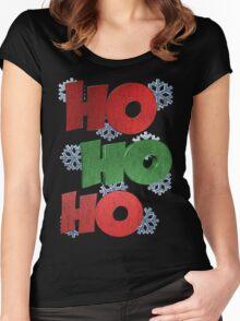 HO HO HO Women's Fitted Scoop T-Shirt