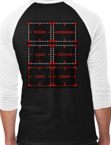 Villains of Interest sticker alternative Men's Baseball ¾ T-Shirt