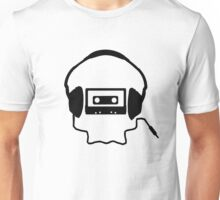 Tape Headphones and a Skull Unisex T-Shirt