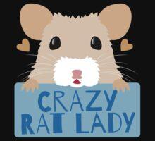 CUTE crazy rat lady (in cream colour) Kids Tee