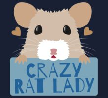 CUTE crazy rat lady (in cream colour) by jazzydevil
