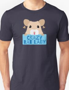 CUTE crazy rat lady (in cream colour) Unisex T-Shirt