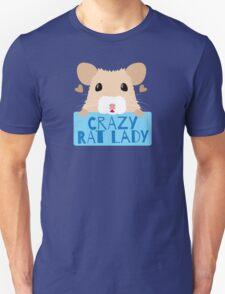 CUTE crazy rat lady (in cream colour) Unisex T-Shirt