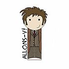Tenth Doctor kokeshi doll by mimiboo