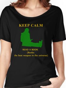 KEEP CALM & read a book Women's Relaxed Fit T-Shirt