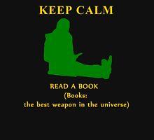 KEEP CALM & read a book Womens Fitted T-Shirt