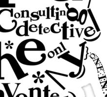 Sherlock Typography Sticker