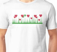 Lucky in Love - Pyrex Vintage Inspired Holy Grail Rare Hard to Find Hearts Shamrocks Clovers Unisex T-Shirt