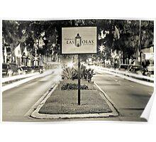 Las Olas Boulevard - B/W Poster