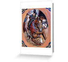 Quarter Horse Cutting Horse Greeting Card