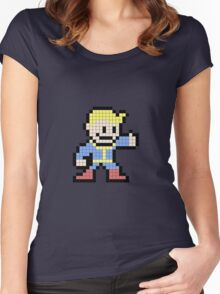 8 Bit Pip boy  Women's Fitted Scoop T-Shirt