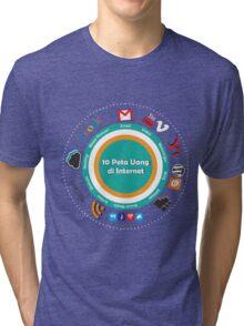 10 Peta Uang di Internet Tri-blend T-Shirt