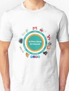 10 Peta Uang di Internet T-Shirt