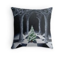 Christmas Cathedral Throw Pillow