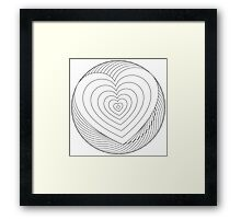 You color my heart Framed Print