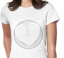 You color my heart Womens Fitted T-Shirt