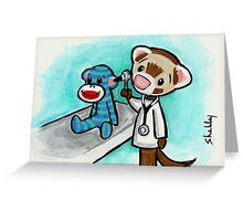 Monkey Doctor Greeting Card